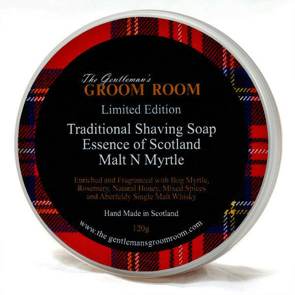 Essence of Scotland - Malt N Myrtle - Traditional Shaving Soap 120g