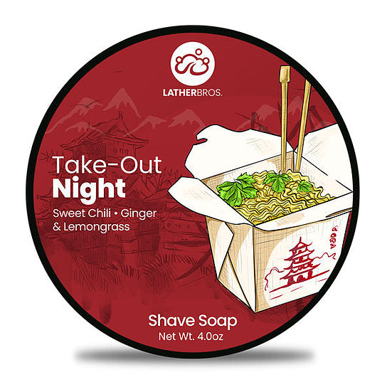 Lather Bros. TakeOut Night, 4 oz Shave Soap, Seasonal, Limited Edition