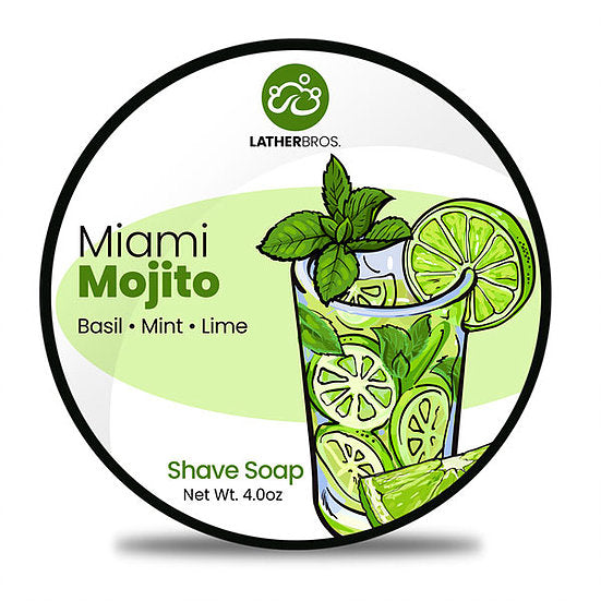 Lather Bros. Miami Mojito, 4 oz Shave Soap