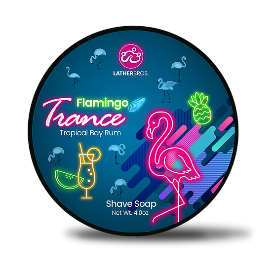 Lather Bros. Flamingo Trance, 4 oz Shave Soap