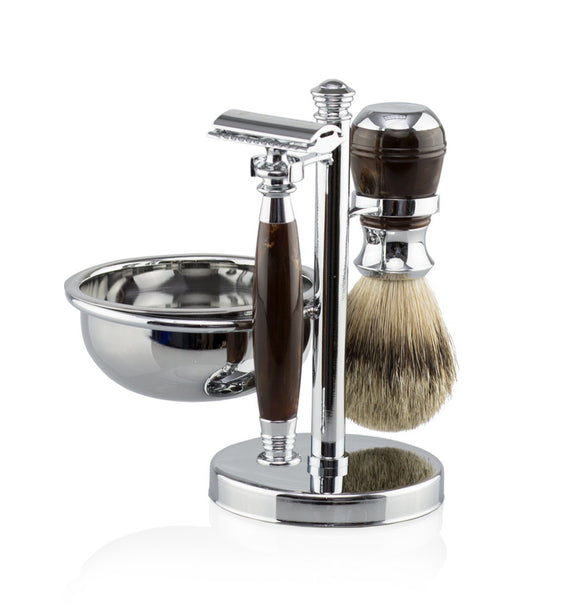 Van Der Hagen Luxury Roasted Chestnut 5 Piece Shave set