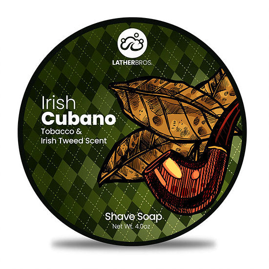 Lather Bros. Irish Cubano, 4 oz Shave Soap