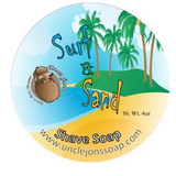Uncle Jon's Shave Soap, Surf & Sand, 2oz Tub