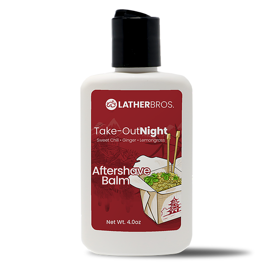 Lather Bros. TakeOut Night, 4 oz, Aftershave Balm