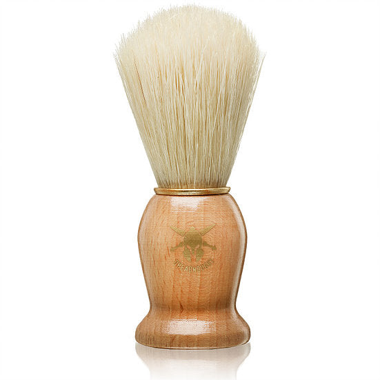 Dreadnought Avenger Natural Bristle Shave Brush with Natural Wood Handle