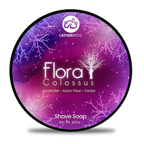 Lather Bros. Flora Colossus, 4 oz Shave Soap, Seasonal, Limited Edition
