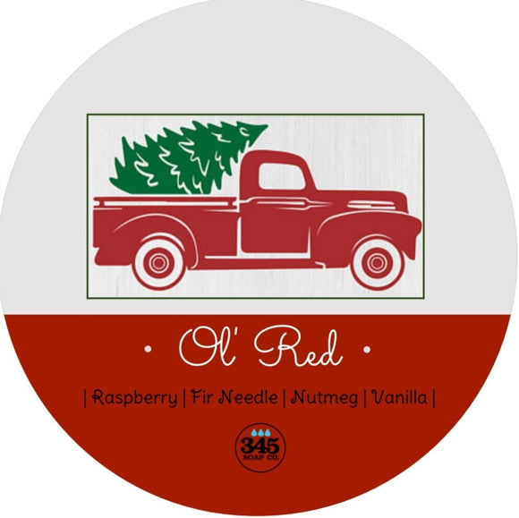 345 Soap Co. - Shaving Soap - Ol' Red