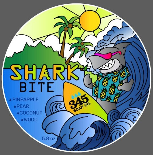 345 Soap Co. - Shaving Soap - Shark Bite