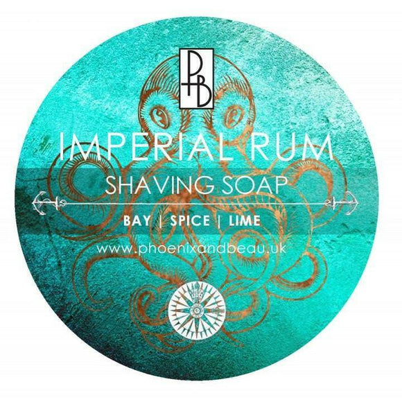 Phoenix and Beau Shave Soap - Imperial Rum- Imported From the  U.K.