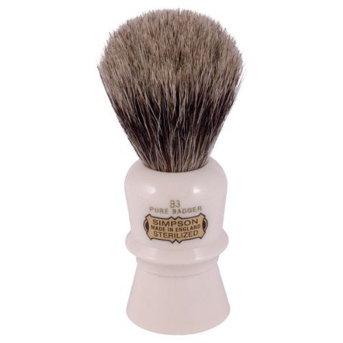 Simpsons Beaufort B3 Pure Badger Hair Shaving Brush Ivory