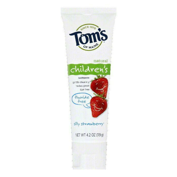 Toms Of Maine Fluoride-Free Children's Toothpaste in Silly Strawberry