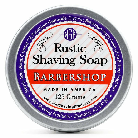 Wet Shaving Products Rustic Shaving Soap - Barbershop -