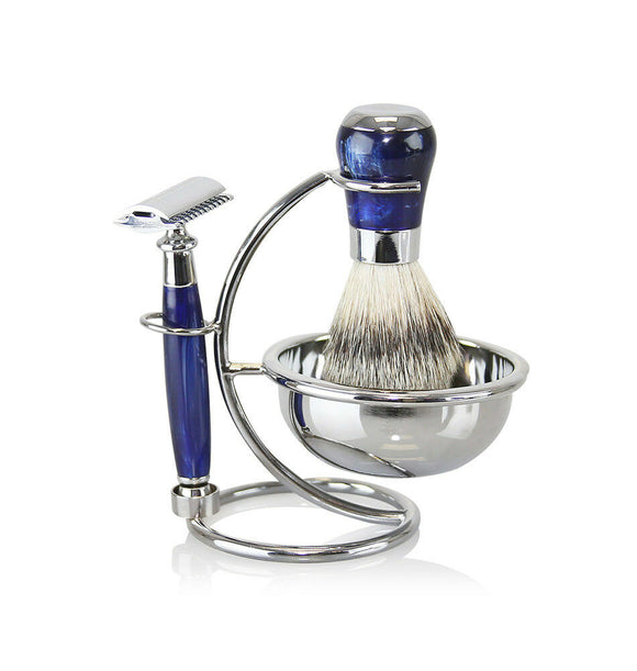 Van Der Hagen 5 Piece Platinum Safety Razor Wet Shave Set- Night Star