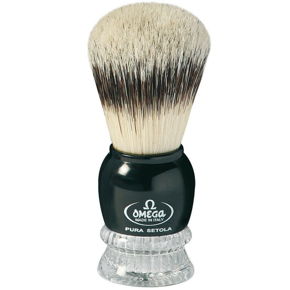 Omega Boar Bristle Shaving Brush - Badger Effect - 10275