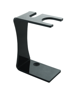Col. Conk Black Acrylic Safety Razor & Brush Stand