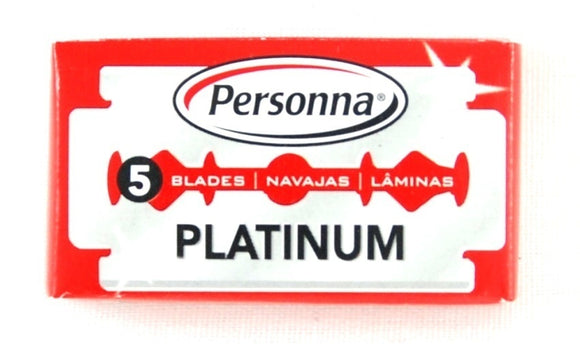 5 Israeli Personna RED Platinum Double Edge Blades