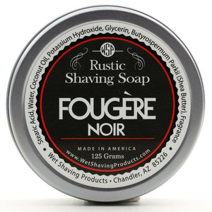 Wet Shaving Products Rustic Shaving Soap - Fougere Noir -