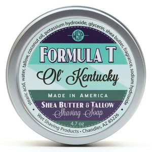 Wet Shaving Products FORMULA T Shaving Soap - Ol' Kentucky -