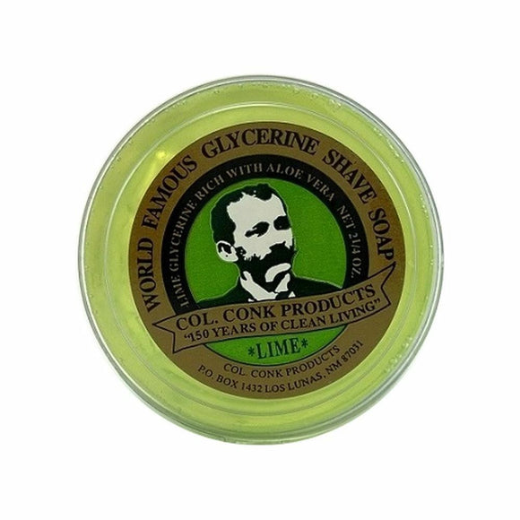 Col. Conk Lime Glycerin Shave Soap 64g 2.25oz