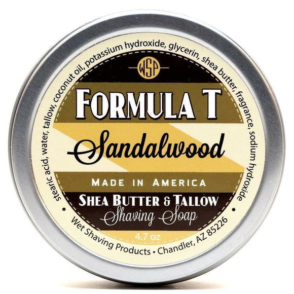 Wet Shaving Products FORMULA T Shaving Soap - Sandalwood -