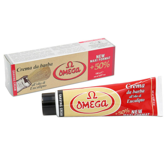Omega Shaving Cream With Eucalyptus Oil In Tube 150 M