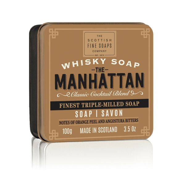 Scottish Fine Soaps Manhattan in a Tin 100g 3.5oz