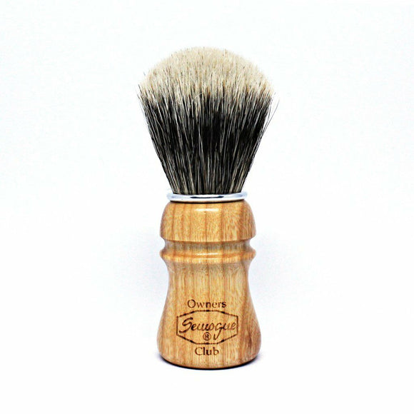 Semogue Owners Club - Ash Wood - Boar & Badger Blend Edition Shaving Brush