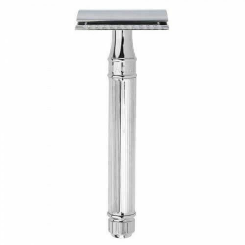 Edwin Jagger DE89LI Classic Double-Edge Safety Razor, Extra-Long Lined Handle