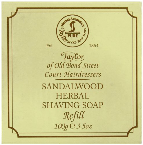 Taylor of Old Bond Street Sandalwood Hard Shaving Soap Refill, 3.5-Ounce