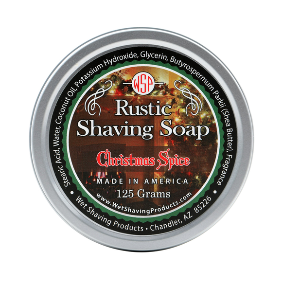 Wet Shaving Products Rustic Shaving Soap - Christmas Spice -