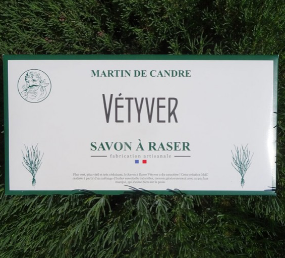 Martin de Candre Shaving Soap VÉTYVER (Vetiver)  Scent - Sample -