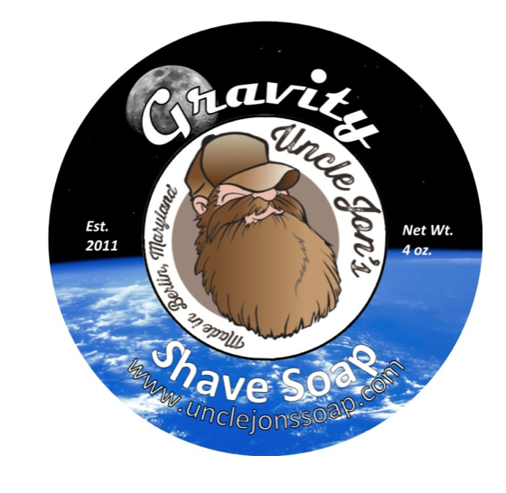 Uncle Jon's Natural Shave Soap - Gravity, 4oz Tub