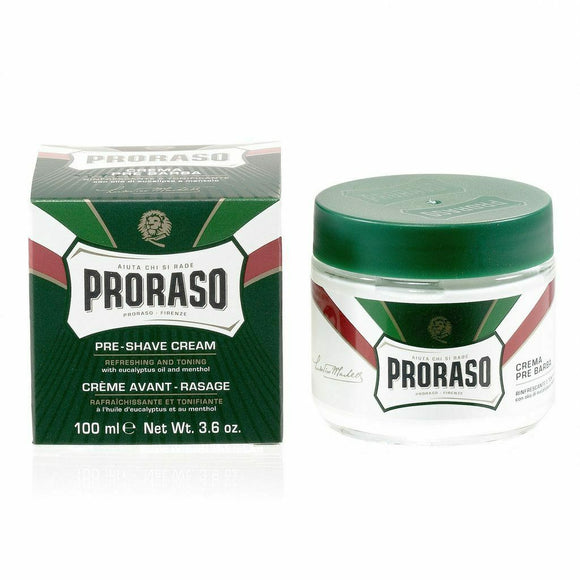 Proraso Green Pre-Post Shave Cream with Eucalyptus and Menthol
