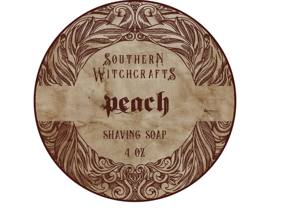 Southern Witchcrafts Shave Soap - Peach - Vegan
