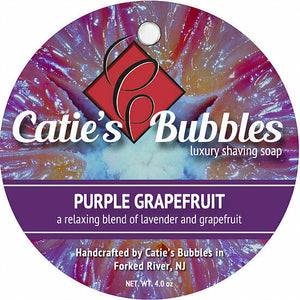Catie's Bubbles - Purple Grapefruit - Luxury Shaving Soap 4oz