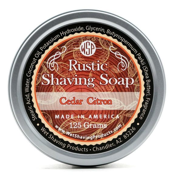 Wet Shaving Products Rustic Shaving Soap - Cedar Citron -
