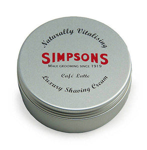 Simpson - Luxury Shave Cream, Cafe Latte 125ml Tin