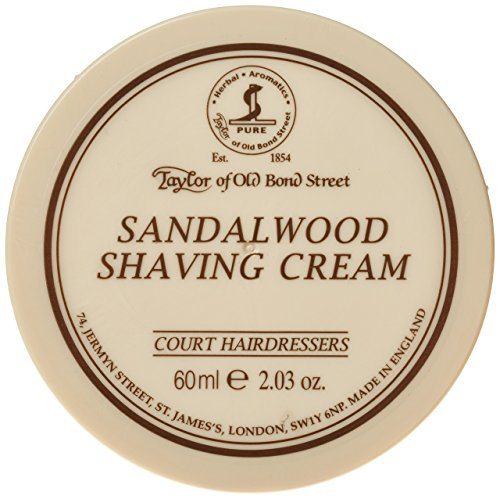 Taylor of Old Bond Street Sandalwood Shaving Cream, Travel Size - 60ml