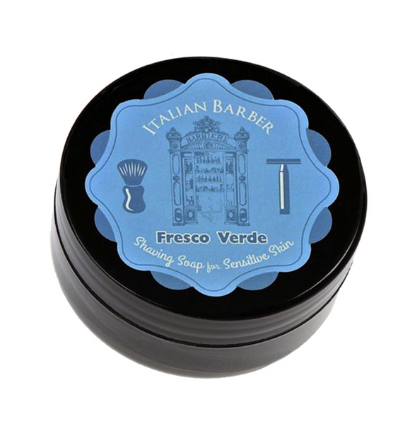 Italian Barber Shaving Soap-- Fresco Verde Scent-