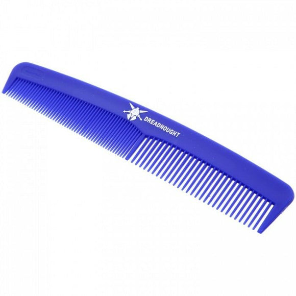 Dreadnought Comb for Men, Plastic made in UK, Fine and Coarse Toothed