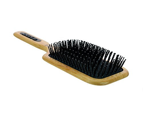 Kent Beechwood Narrow Quilled Large Paddle Mega-Phine Taming Hair Brush