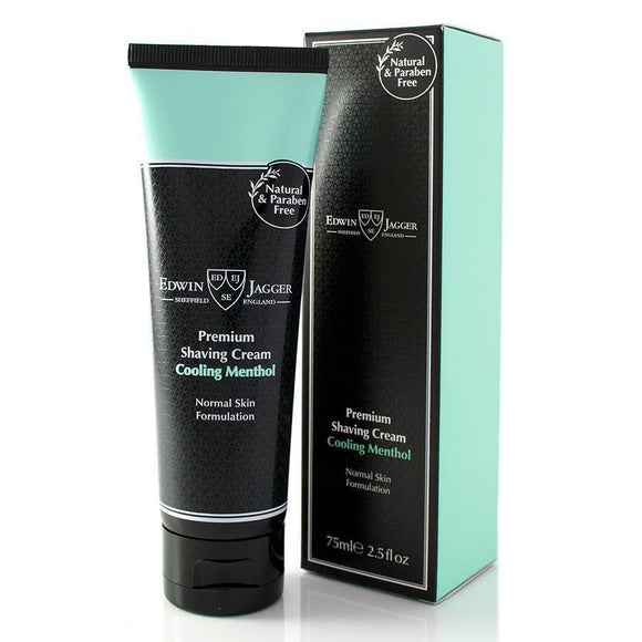 Edwin Jagger Cooling Menthol, Shaving Cream, 2.5oz Tube