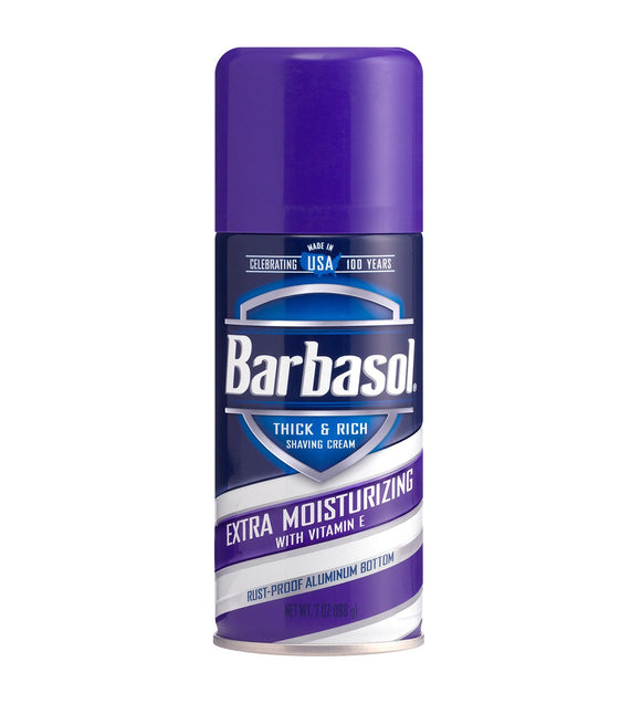 Barbasol - Extra Moisturizing with Vitamin E  & Rich Shaving Cream - 7 Ounces
