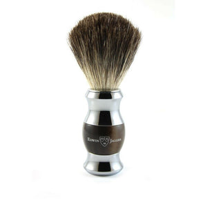Edwin Jagger Imitation Horn & Chrome Pure Badger Shaving Brush