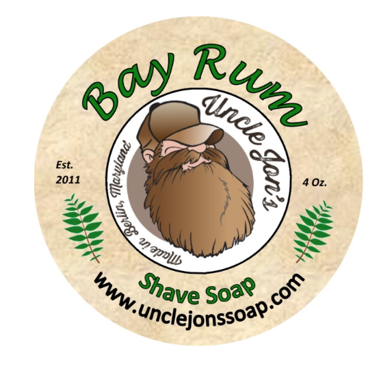 Uncle Jon's Natural Shave Soap - Bay Rum, 4oz Tub