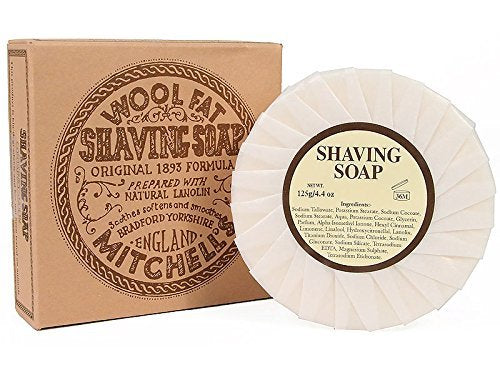 Mitchell's Wool Fat Shave Soap Refill - 125g
