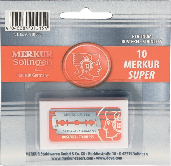 10 Merkur Double-Edge Safety Razor Blades