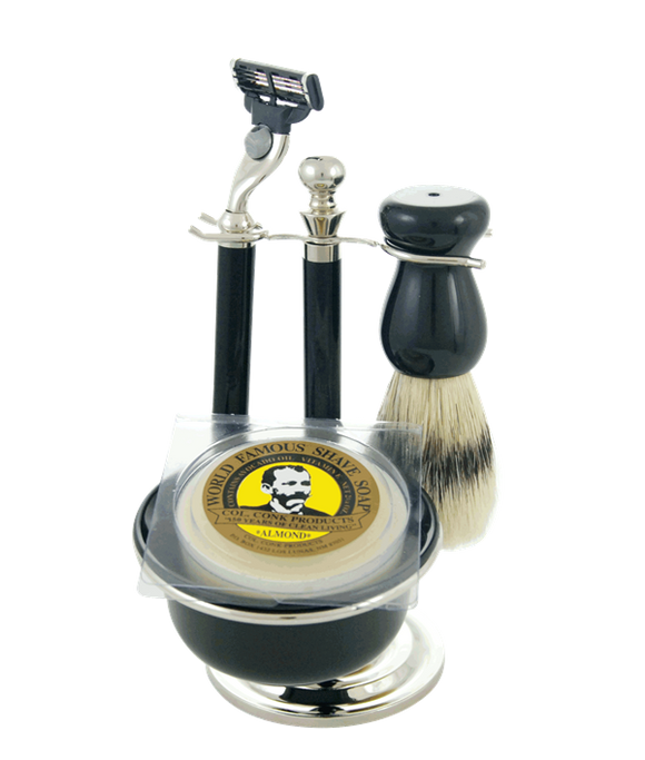 Col. Conk 5 Pc, Gift Set, Includes, Mach 3 Razor, Brush, Stand, Bowl, & Soap
