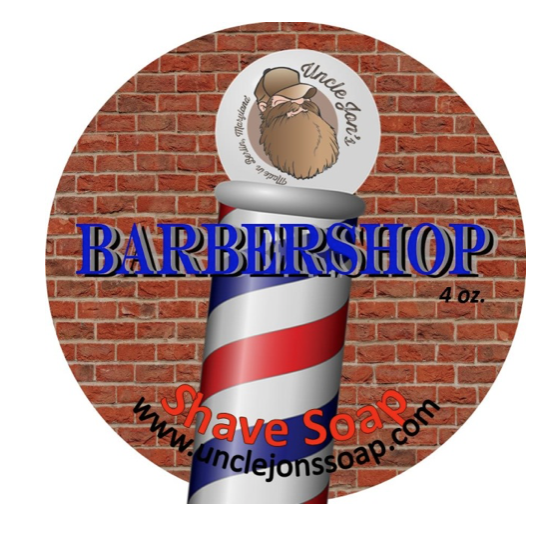 Uncle Jon's Natural Shave Soap - Barbershop 4oz