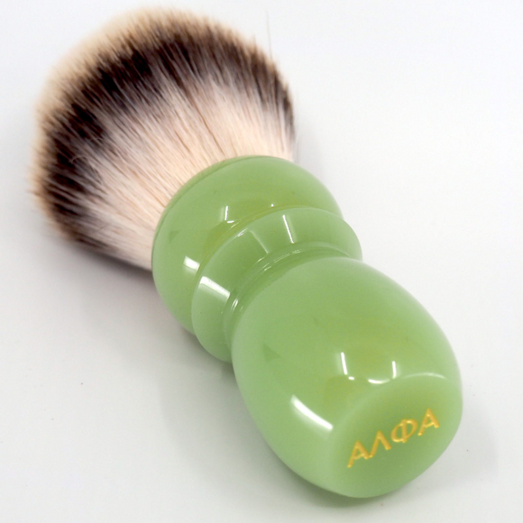 Alpha Brush & Shaving Co. - Classic Faux Jade Shaving Brush